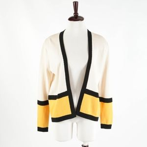 ST. JOHN – Vintage Yellow and Ivory Knit Sweater